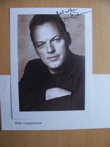 David Gilmour: signiertes Foto