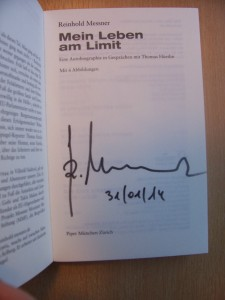 Reinhold Messner: signierte Biographie