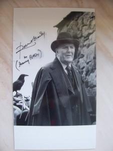 Robert Hardy, signiertes Foto
