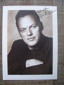 David Gilmour, signiertes Foto