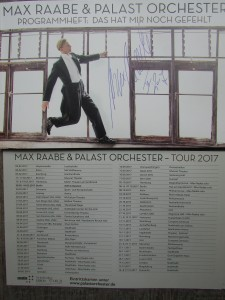 Max Raabe & Palast Orchester, signiertes Programheft