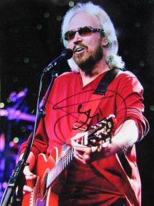 Barry Gibb: signiertes Foto