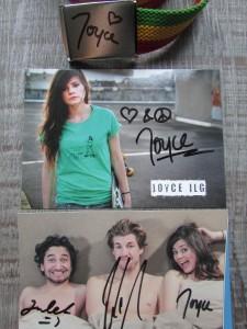 Joyce Ilg / Luke Mockridge signierte Fotos